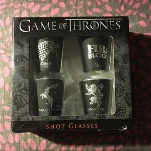 NRFB Set - 4 Sigil Games of Thrones Shot Glasses